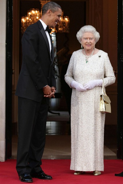 Barack Obama and The Queen - Michelle and Barack Obama visit London - European visit