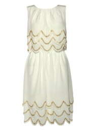 Ted Baker Beaded scalloped edge dress