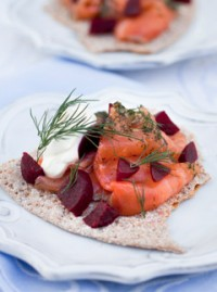 Gravlaks and Beetroot