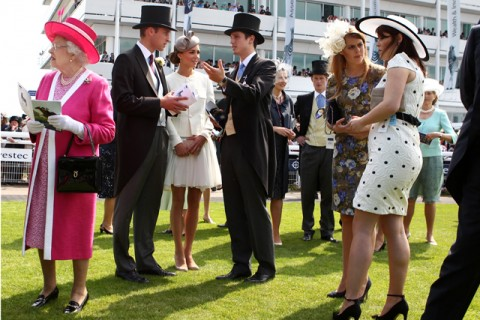 Royal Family at the Epsom derby
