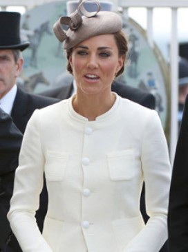 Kate Middleton - The Duchess of Cambridge - Kate Middleton wears Reiss to the Races - Kate Middleton Reiss dress - Reiss Shola Dress - Marie Claire - Marie Claire UK
