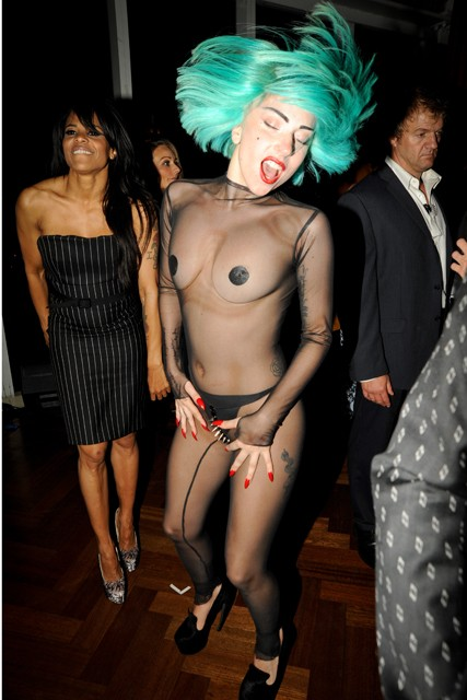 Lady Gaga at the CFDA after-party