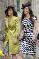 Pippa and Kate Middleton - The wedding of Sam Waley-Cohen and Annabel Ballin