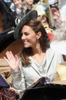 Kate Middleton aat the Service for the Order of the Garter at St. George's Chapel, Windsor,