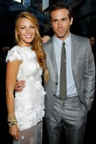 Blake Lively and Ryan Reynolds at the Green Lantern premiere in LA
