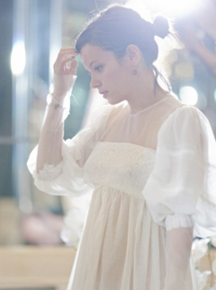 Lily Allen Chanel wedding dress - wedding pictures