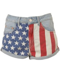 Topshop American flag shorts 