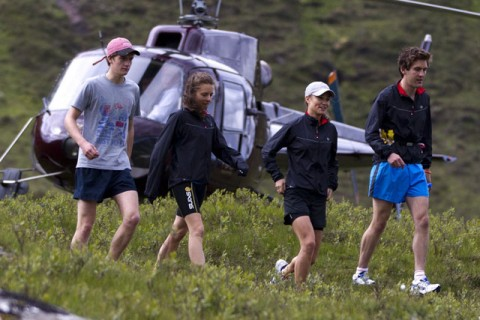 Pippa Middleton takes part in the Highland Cross duathlon