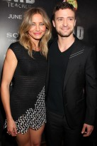 Cameron Diaz and Justin Timberlake at the Bad Teacher premiere