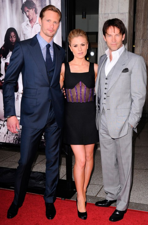 Alexander Skarsgard, Anna-Paquin, Stephen Moyer True Blood Season Four Premiere