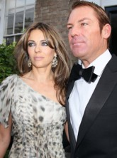 Elizabeth Hurley & Shane Warne - Liz Hurley & Shane Warne - Elton John - White Tie and Tiara Ball - Marie Claire - Marie Claire UK