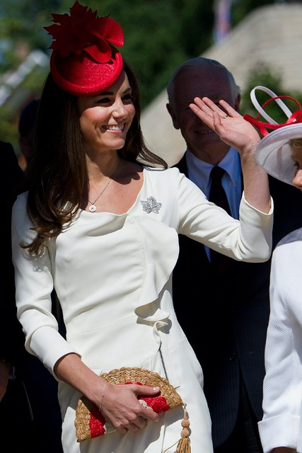 Kate Duchess of Cambridge during Canada tour - wearing Reiss dress