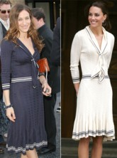 Sarah Jessica Parker vs Kate Middleton - Sarah Burton for Alexander McQueen dress