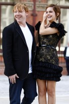 Emma Watson and Rupert Grint at the Harry Potter photocall