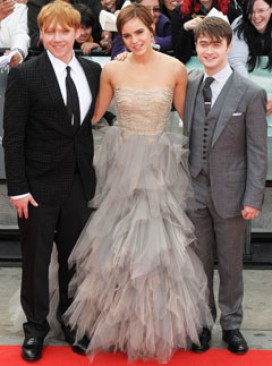 Rupert Grint, Emma Watson and Daniel Radcliffe at the world premiere of Harry Potter and the Deathly Hallows - Part 2