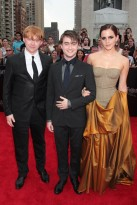 Rupert Grint, Daniel Radcliffe and Emma Watson - at the Harry Potter and the Deathly Hallows Part 2 New York premiere