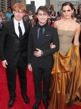 Rupert Grint, Daniel Radcliffe and Emma Watson at Harry Potter and the Deathly Hallows part 2 NY premiere