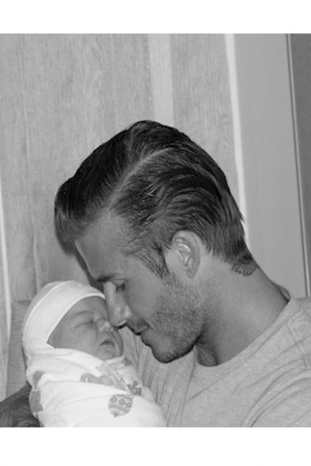David Beckham and baby Harper Seven