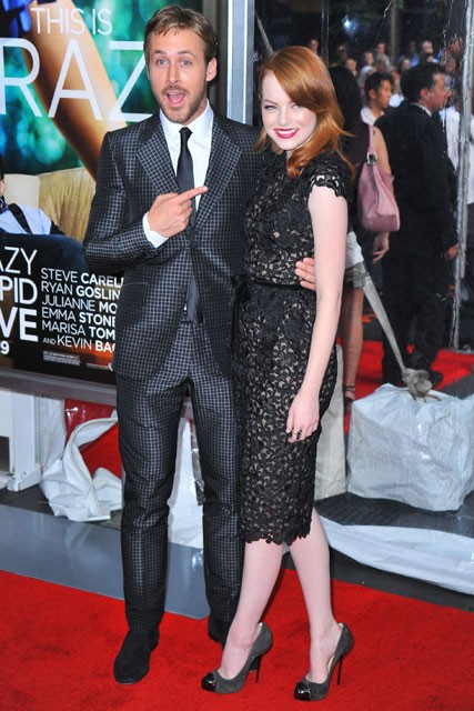 Ryan Gosling and Emma Stone at the Crazy Stupid Love premiere