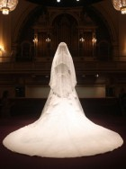 The Duchess of Cambridge - wedding dress - on display - Buckingham Palace - Alexander McQueen - Sarah Burton