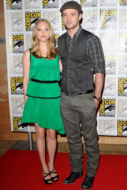 Amanda Seyfried &amp; Justin Timberlake - FIRST LOOK! Justin Timberlake and Amanda Seyfried?s In Time Trailer - Justin Timberlake - Amanda Seyfried - In Time - Trailer - Marie Claire - Marie Claire UK