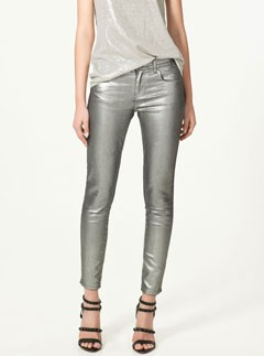 Zara silver trousers LP