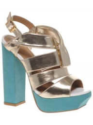 ASOS metallic multi-strap sandals LP