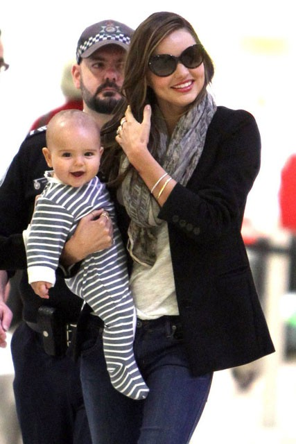 Miranda Kerr and baby son Flynn Bloom 