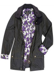 Liberty print Barbour wax jacket
