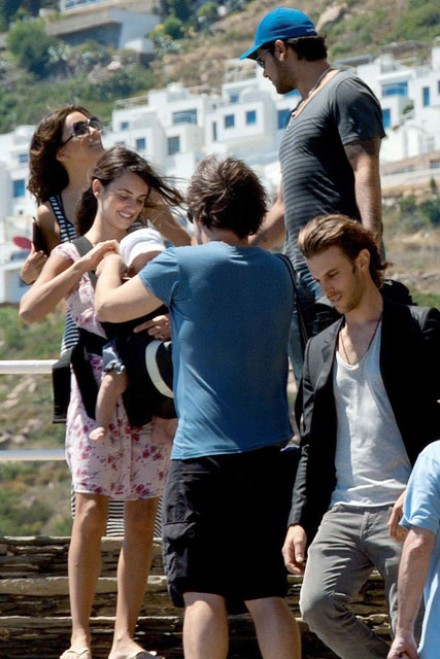Penelope Cruz and baby Leo, Javier Bardem and Eva Longoria -