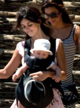 Penelope Cruz and baby Leo