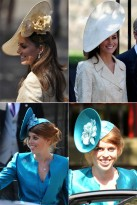 Royal wedding hats - Catherine Duchess of Cambridge and Princess Beatrice