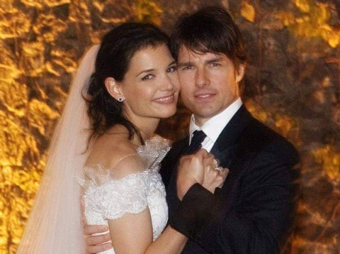 Katie Holmes - wedding hair - wedding hairstyles - celebrity weddings
