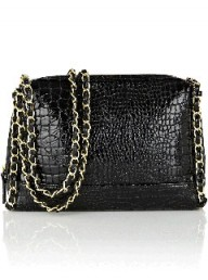 Warehouse faux croc handbag LP