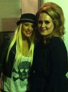 Adele and Christina Aguilera