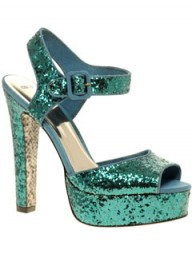 ASOS glitter peep-toe heels