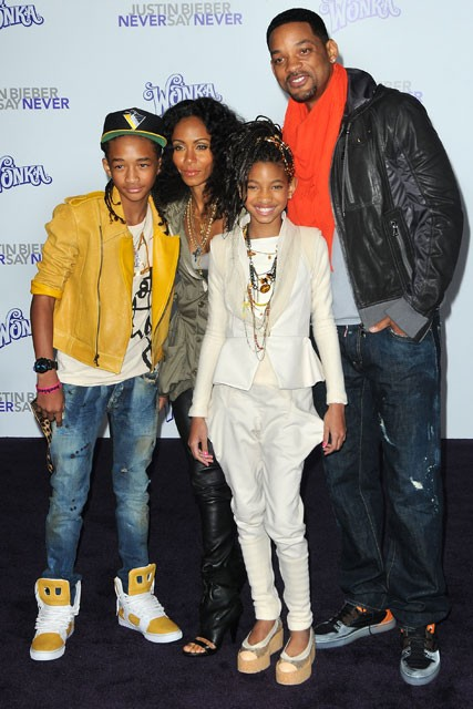 Will Smith, Jada Pinkett Smith, Jaden Smith and Willow Smith