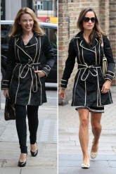 pippa middleton - kylie minogue - fay - coat - trench - mac - fashion - who wore it best