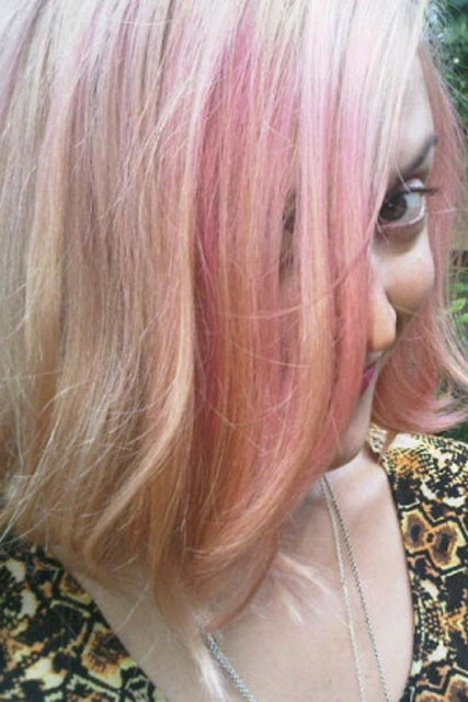 Fearne Cotton pink hair
