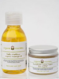 Organic Monkey baby massage oil