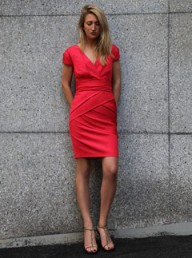Reiss red dress