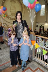 Liberty Ross and children - Stella McCartney childrenswear launch