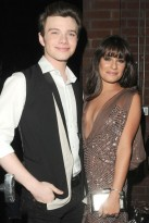 Lea Michele and Chris Colfer at the Fox Fall Party