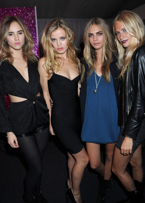 Suki Waterhouse, Geortgia May Jagger, Poppy Delevighne and Cara Delevigne at The Rimmel London Party