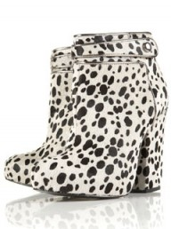 Topshop Unique Dalmatian print ankle boots