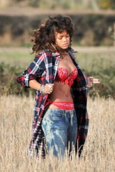 Rihanna - PICS: Rihanna hits the countryside for We Found Love video - Rihanna We Found Love - Rihanna new video - Marie Claire - Marie Claire UK