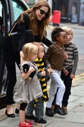 Angelina Jolie and Gwen Stefani and their children