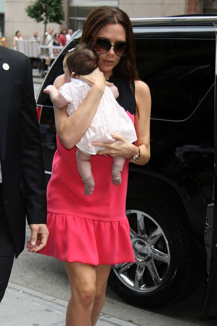 Victoria Beckham and baby Harper 
