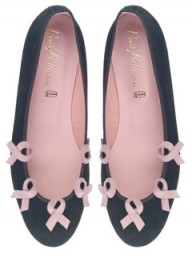 Pretty Ballerinas ballet pumps - breast cancer awareness month - charity