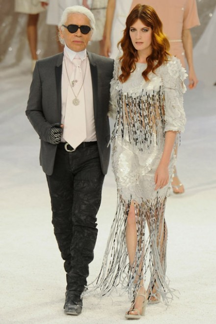 Florence Welch on the catwalk at Chanel Spring Summer 2012